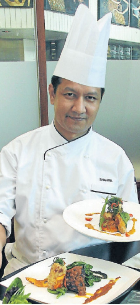 Chef Shahril shows off his culinary creations