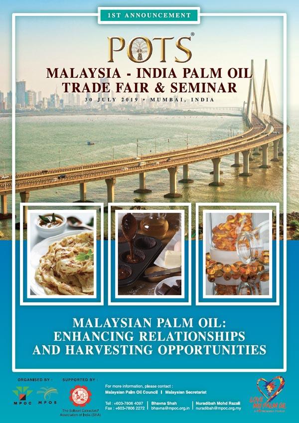 Palm Oil Trade Fair and Seminar (POTS), India 2019 – MPOC